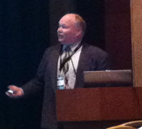 Greg Mester presenting at Defense Conference