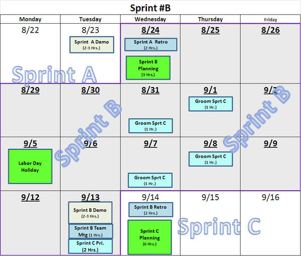 simple sprint calendars. Black Bedroom Furniture Sets. Home Design Ideas