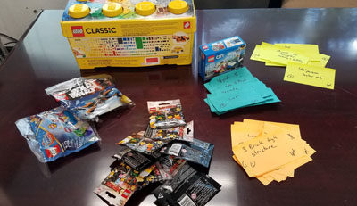 Lego Sets and story cards